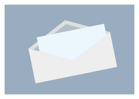 unfolded: letter inside the envelope