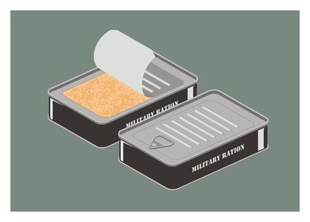 ration: military ration can simple illustration