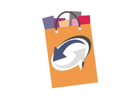 e store: online shop simple icon Illustration
