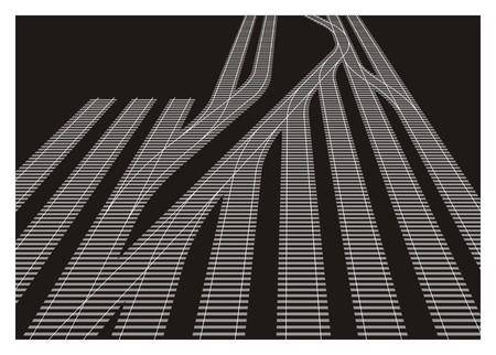 stoczni kolejowe prosta ilustracja