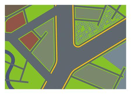 transportation facilities: road branches simple illustration