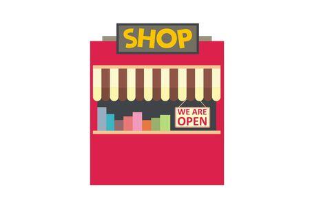 small kiosk simple illustration Ilustração