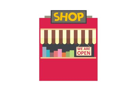kiosk: small kiosk simple illustration Illustration
