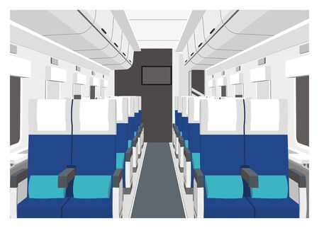 railcar: train car interior Illustration