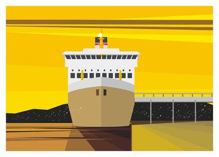admiral: passengerferry ship docking
