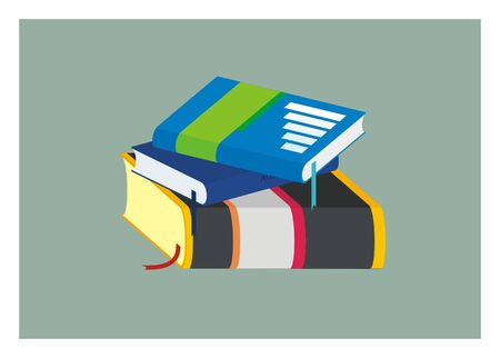 simple: book stack simple illustration