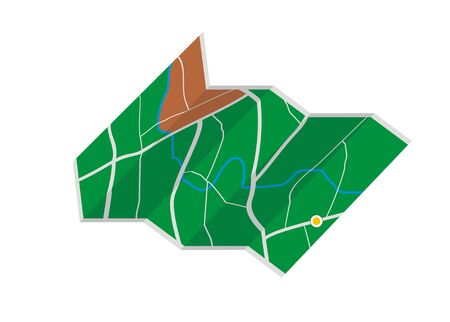 thoroughfare: folded map simple illustration