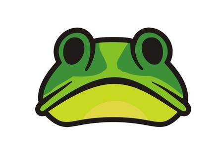 croaking: frog face simple illustration