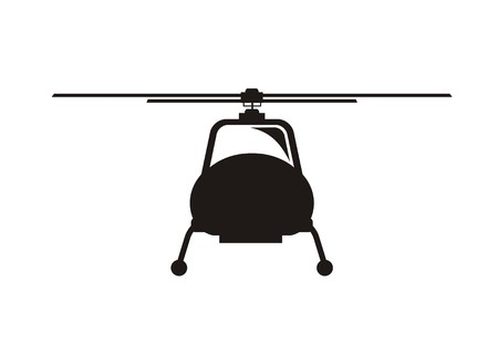 vehicle combat: helicopter icon, front view
