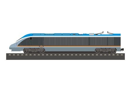 thoroughfare: high speed locomotive simple illustration
