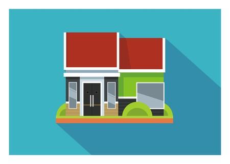 veranda: simple minimalist home illustration