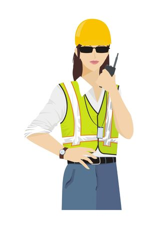 executor: female site manager Illustration