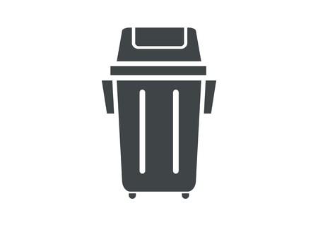 pail tank: trash box simple icon