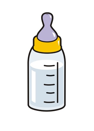 baby milk bottle simple illustration