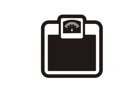 analog weight scale: body weigher simple icon Illustration