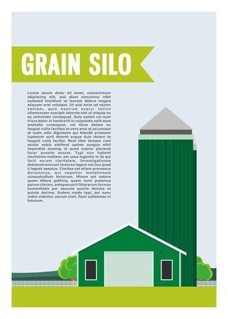 grain silo and the barn