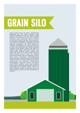 grain silo and the barn