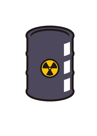 plutonium: hazardous barrel simple illustration Illustration