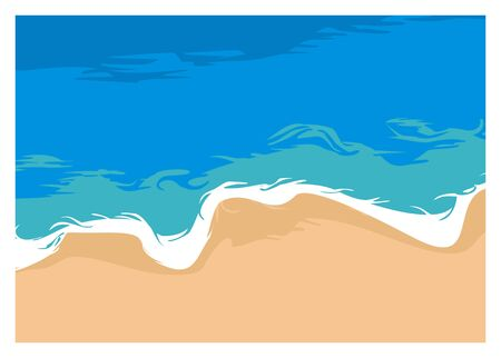 beach simple illustration, view from the top Vetores