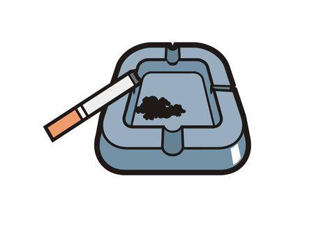 illustratin: ashtray simple illustratin