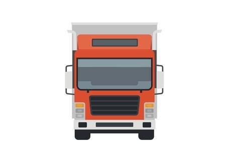 camions porte-conteneurs, vue de face Vecteurs