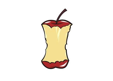 apple bite simple illustration Illustration