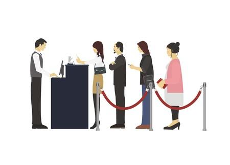 people in a queue Vektoros illusztráció