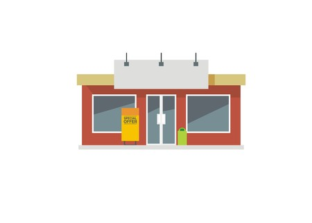 veranda: store front simple illustration