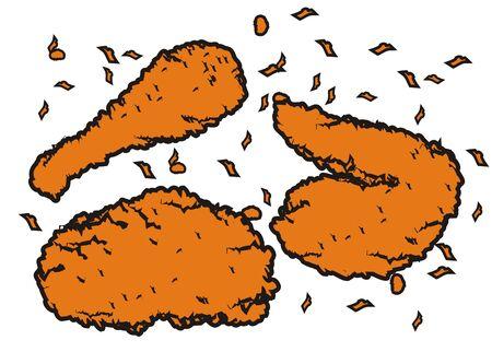 knusprige Hähnchen-Paket Vektorgrafik