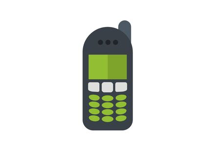 old cell phone simple illustration