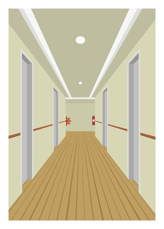 accomodation: ship room corridor