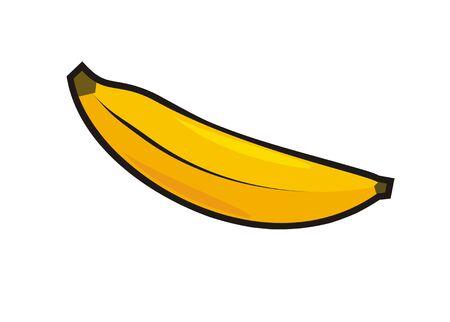 enjuague bucal: banana simple illustration Vectores