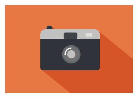 flat: pocket camera simple flat icon