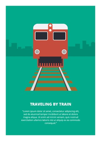 traveling by train Illustration