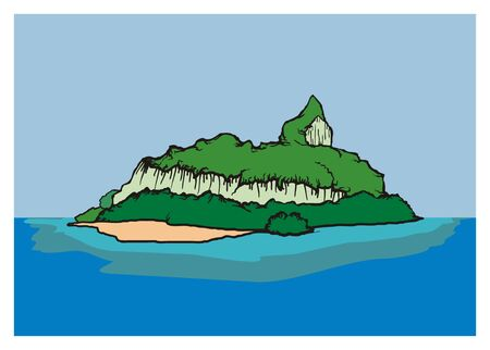 silent: silent island simple illustration Illustration