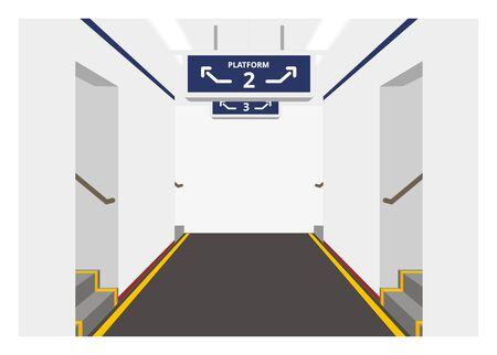 Platform tunnel corridor Ilustração
