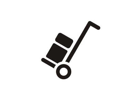 luggage trolley simple icon