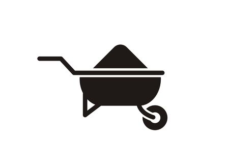 Construction trolley simple icon