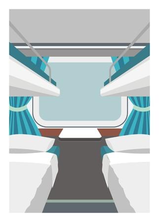 A sleeper train car vector illustration. Illustration