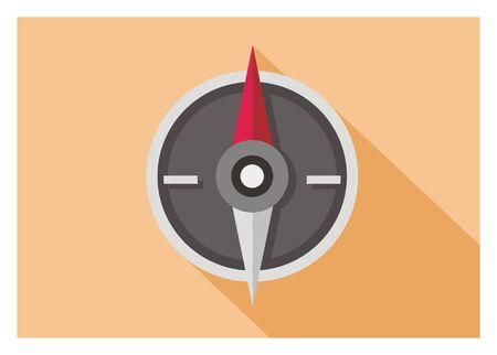 Boussole icône plat Banque d'images - 87759817