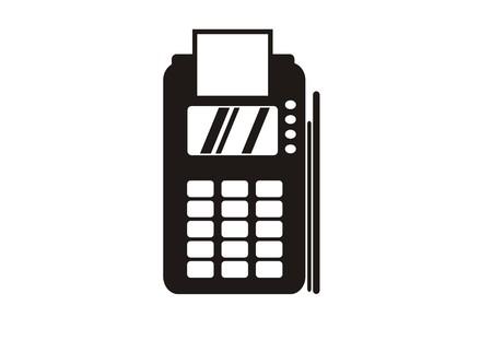EDC machine simple icon Vectores