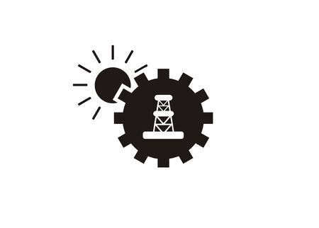 A natural resource simple icon on a white background. Illustration