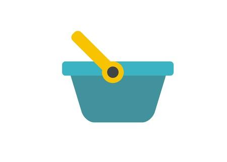 shopping basket simple illustration
