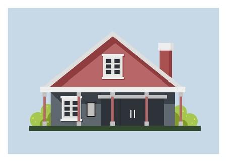 old shop house simple illustration