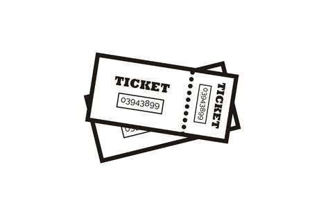ticket sheets simple icon Çizim