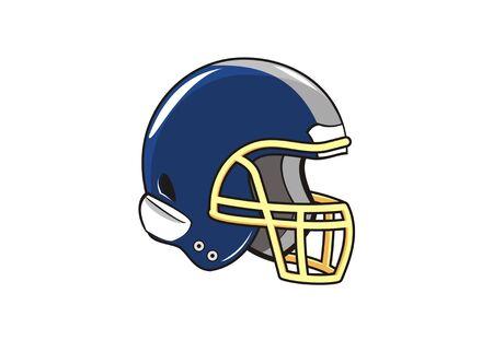 american football helmet simple illustration