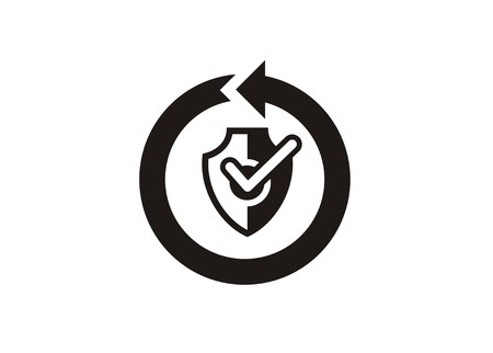 continuous protection simple icon Illustration