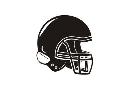 american football helmet in black and white