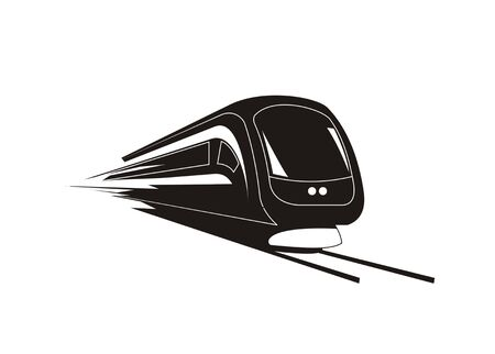 Fast train simple silhouette icon/illustration