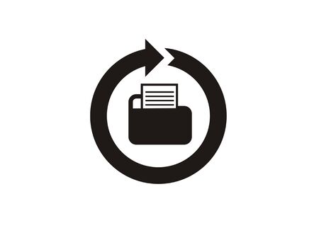 A file recovery simple icon
